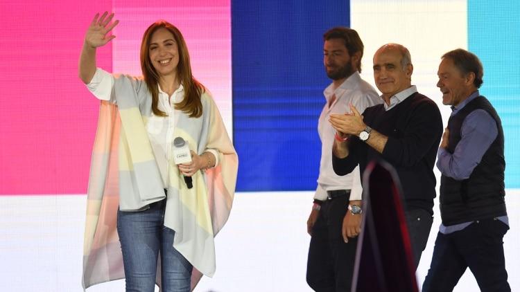 La gobernadora bonaerense María Eugenia Vidal recibirá a Axel Kicillof en La Plata (Télam)