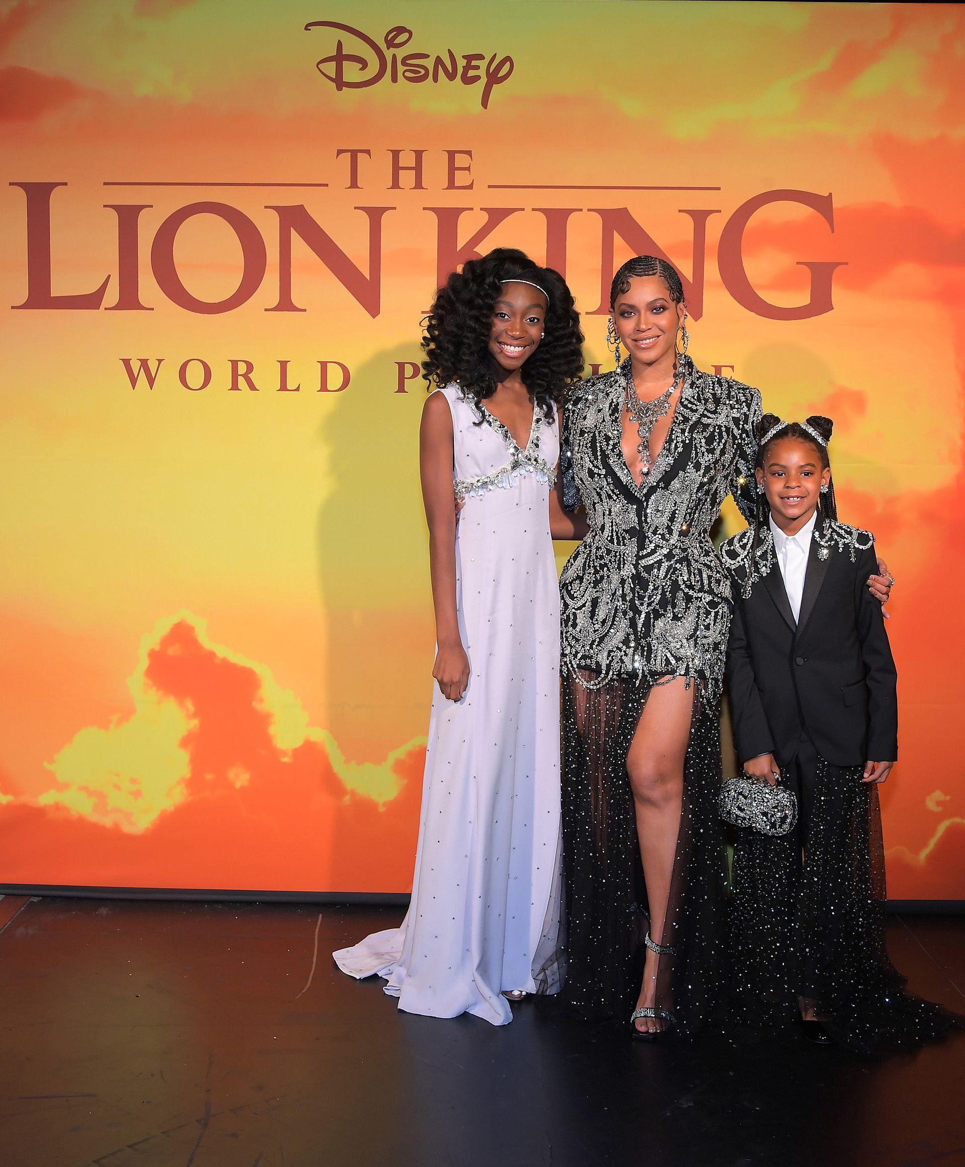 Shahadi Wright Joseph, Beyonce Knowles-Carter,y Blue Ivy Carter
