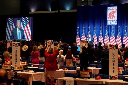 El primer día de la Convención Nacional Republicana tuvo lugar en Charlotte (EFE / Chris Carlson)