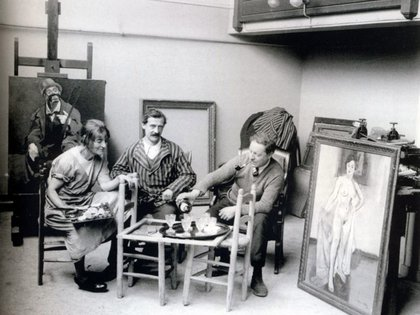 Suzanne Valadon, Maurice Utrillo y André Utter (1926)