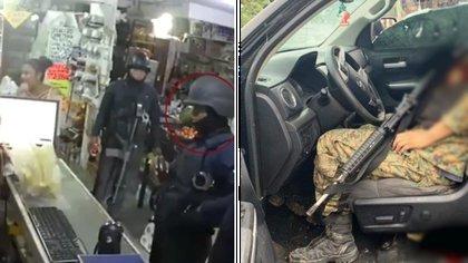 Tras la ejecución de los presuntos sicarios, los policías fueron captados en una tienda de conveniencia (Foto: Especial)
