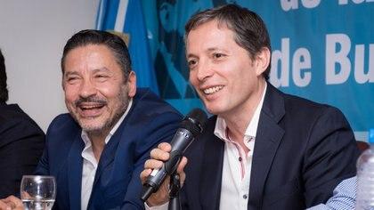 Menéndez y Gray, la dupla que conduce el PJ Bonaerense, estará presente (Martín Rosenzveig)