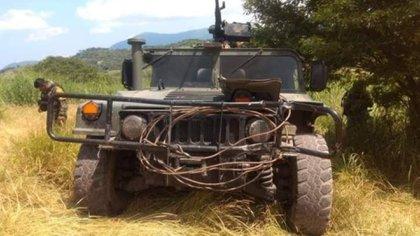 Sedena y Guardia Nacional hicieron frente a los ataques del CJNG en Michoacán (Foto: Twitter @Oscarbalmen)
