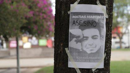 En imagen, el policía Matías Martínez