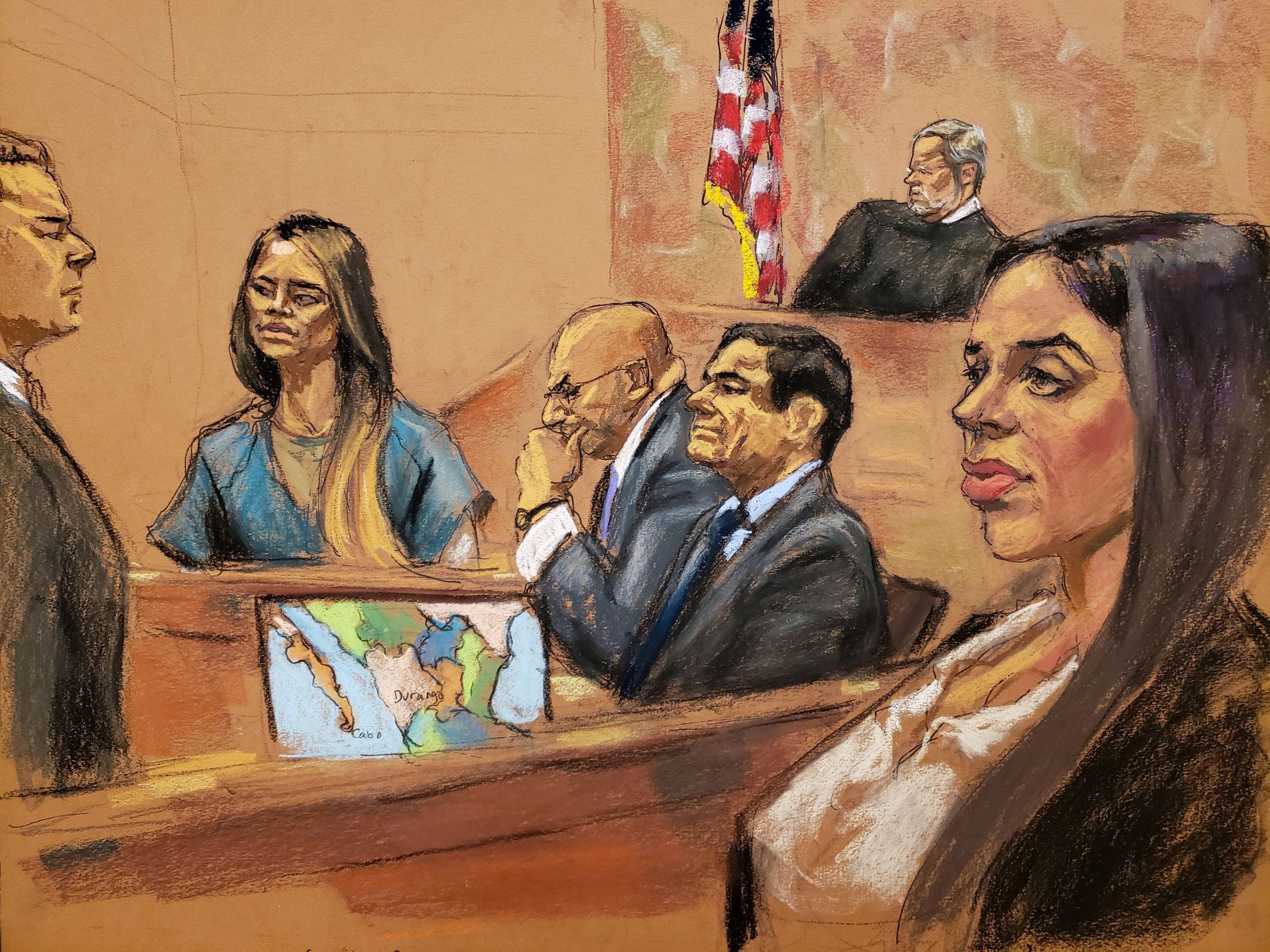 En el juicio del Chapo Guzmán, una de sus parejas fuera del matrimonio, Lucero Sánchez, declaró como testigo para con ello intentar reducir su condena (Foto: Archivo)