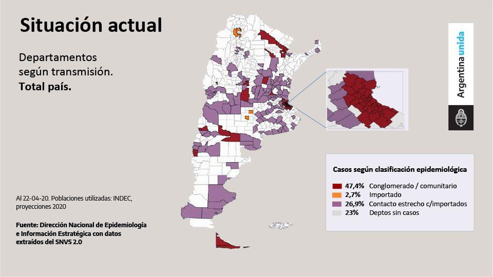 Mapa de los distritos sin contagios de coronavirus
