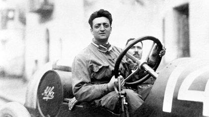 Don Enzo en sus tiempos de piloto: dejó la competición cuando nació Dino, en 1932.