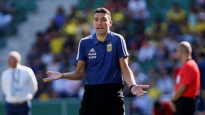 Scaloni destacó la actuación de la Selección frente a Brasil (EFE)