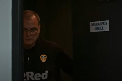 Marcelo Bielsa y Andrea Radrizzani en Leeds United