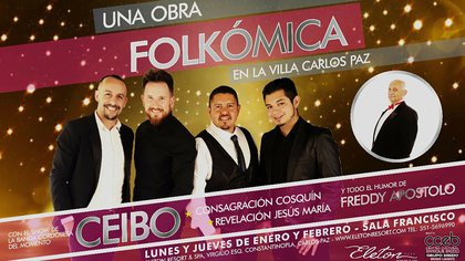 """Folkómica"", un espectáculo humorístico musical"
