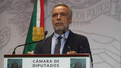 Ramírez Cuéllar aprovechó la visita oficial del presidente de Argentina Alberto Fernández a México para proponer el gravámen (Foto: Cortesía Cámara de Diputados)