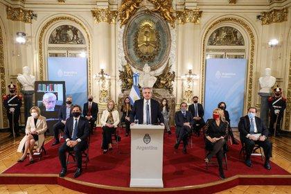 El presidente anuncia el proyecto de ley para reformar el sistema judicial.