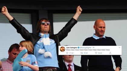 El fanatismo de Liam Gallagher por Messi  (Crédito: Shutterstock)