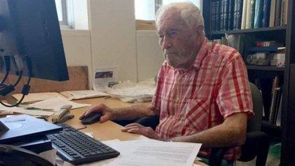 David Goodalltenía 102 años yseguía yendo asu oficina en la Universidad de Perthtodos los días