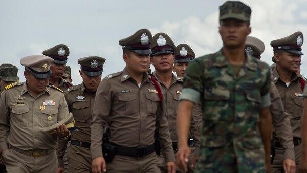Las Fuerzas Armadas tailandesas participaron de los ritos fúnebres (AFP)
