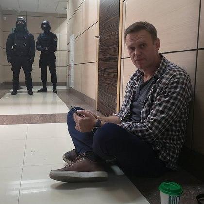 El líder opositor ruso Alexei Navalny detenido