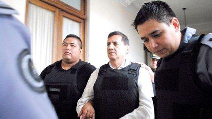 El entonces juez Raúl Reynoso en el momento de ser detenido