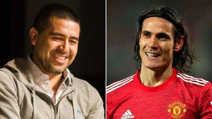 Riquelme mantiene contacto directo con el uruguayo Cavani