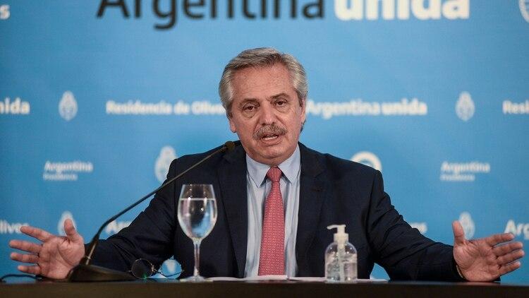 Alberto Fernández prorrogó la cuarentena (Foto: Télam)