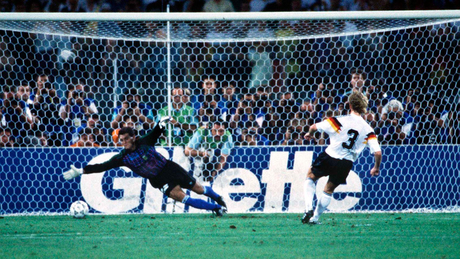 Brehme 1990 pelota mundial italia argentina
