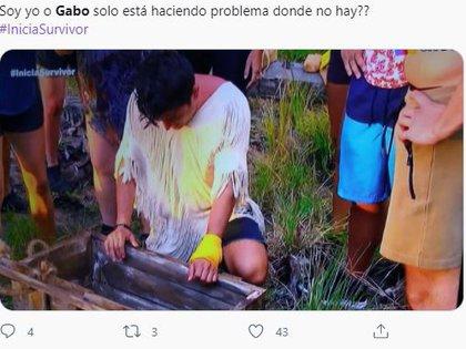 Este es uno de tantos comentarios sobre la actitud de Gabo en el programa (Foto: captura de pantalla Twitter)