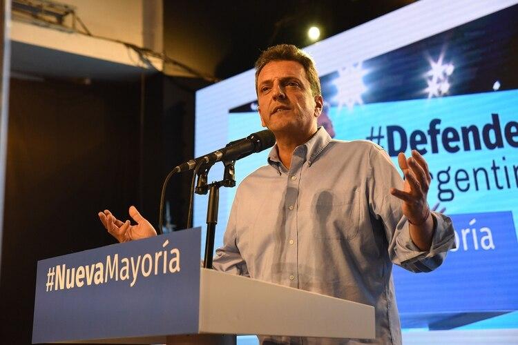 Sergio Massa en el Congreso del Frente Renovador, adonde recibió el mandato de construir una coalición amplia y federal