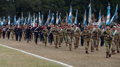 Desfile militar del 9 de julio en Tucumán