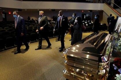 Reverendo y activista por los derechos civiles Jesse Jackson en el funeral de George Floyd REUTERS/Lucas Jackson