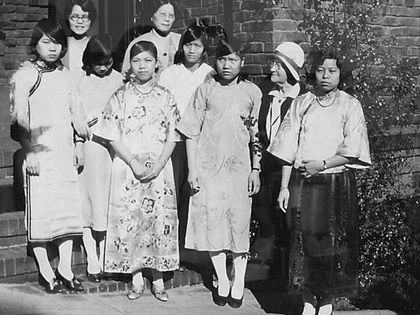 Donaldina Cameron se dedicó a rescatar a niñas, mujeres y jóvenes esclavizadas en los prostíbulos de Chinatown. (California Society of Pioneers)