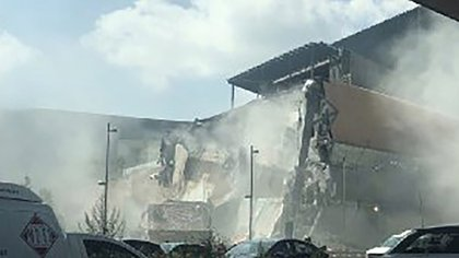 El derrumbe en Artz Pedregal la semana pasada