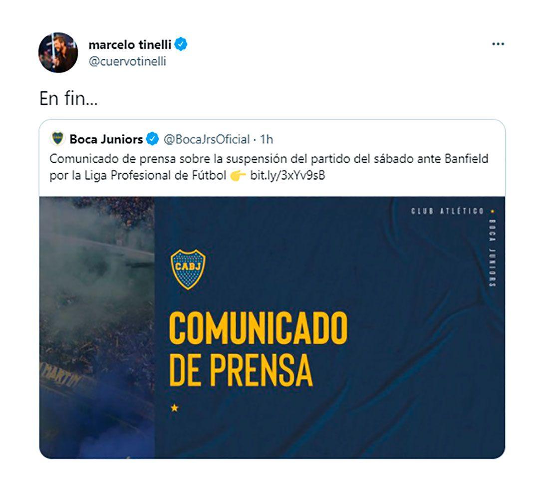 Comentario de Marcelo Tinelli al comunicado de Boca