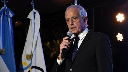 Rodolfo D'Onofrio recibió el premio a la trayectoria como dirigente deportivo (Foto: Nicolas Stulberg)
