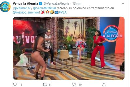 """Serrath y Curvy recrearon su enfrentamiento en """"Survivor"""""""