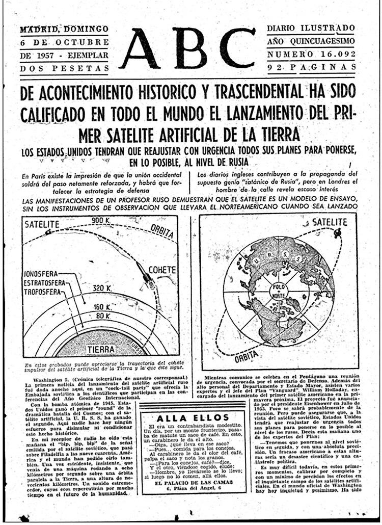 La noticia del Sputnik en la prensa mundial: la Guerra Fría se trasladaba al espacio