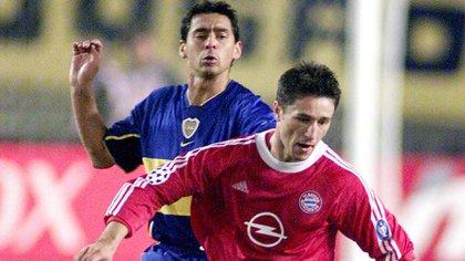 Cristian Traverso en la final de la Intercontinental 2001 ante Bayern Munich (NA)