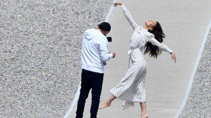 Leo Di Caprio fotografió a Camila en el marco del festival de Cannes (Grosby Group)