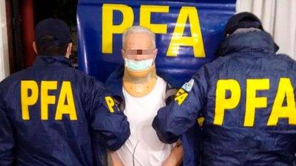 """Roberto Orts alias """"Tato"""", tras ser detenido por la Federal."""