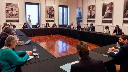Reunión del equipo económico y el Consejo Agroindustrial (Foto: Ministerio de Economía)