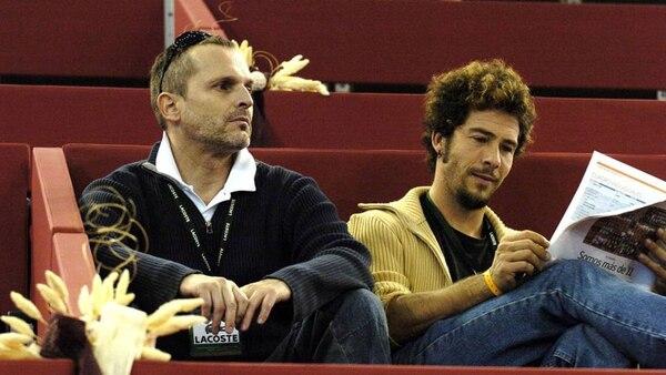 Miguel Bosé junto a su ex Ignacio Palau