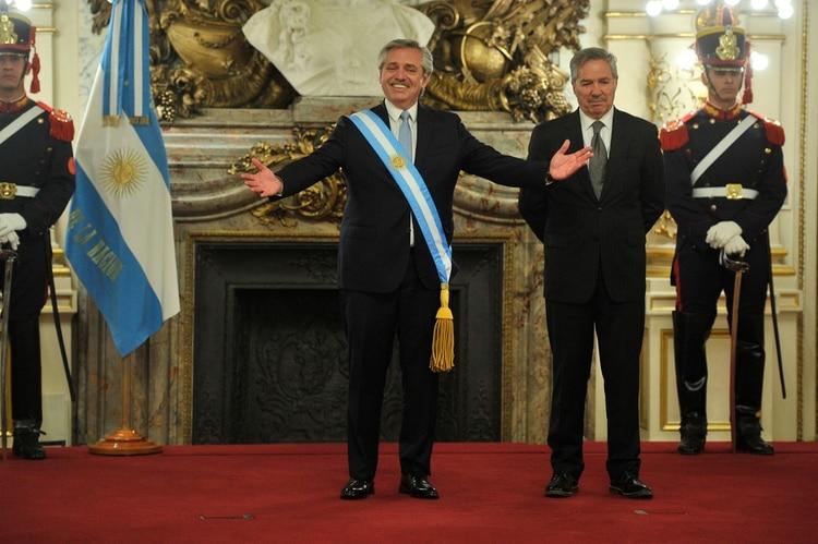 Alberto Fernández y Felipe Solá (Foto: Télam)