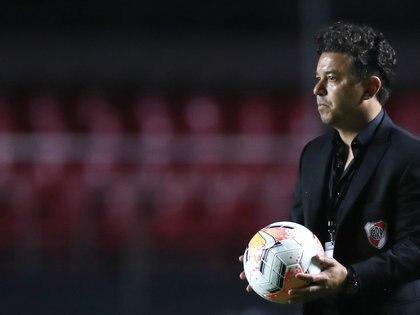 Marcelo Gallardo aún tiene dudas del equipo que formará en Brasil (Reuters)