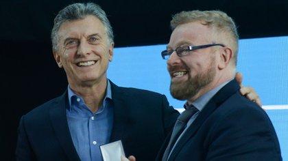 """Gabriel Rabinovich fue galardonado con el premio """"Investigador de la Nación"""", que le fue entregado por el presidente Mauricio Macri (Presidencia de la Nación)"""