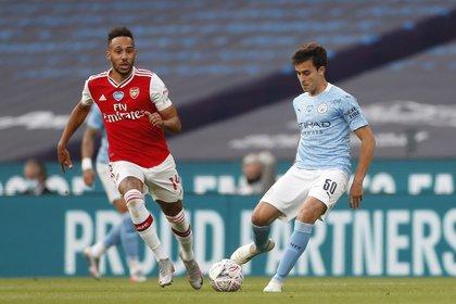 Eric García fue parte del equipo que quedó afuera de la FA Cup en la semifinal ante el Arsenal (Reuters)