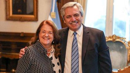 Alicia Castro y Alberto Fernández juntos, una imagen que parece haber quedado en el pasado
