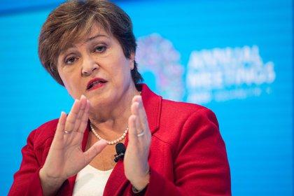 """Kristalina Georgieva: """"Las políticas monetarias y financieras no pueden hacer el trabajo solo. La política fiscal debe desempeñar un papel central"""" (AFP)"""
