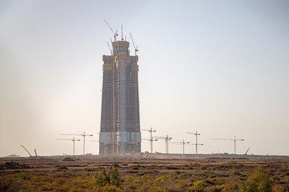 La construcción de la Jeddah Tower en febrero de 2019
