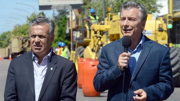 El Gobernador Alfredo Cornejo junto al Presidente Mauricio Macri en la ciudad de Mendoza