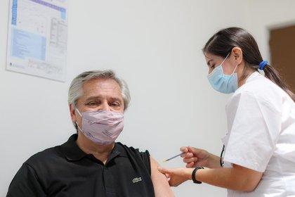 Alberto Fernández se vacunó la semana pasada
