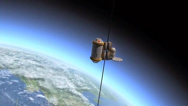 Esta prueba es la primera que explora el movimiento de un contenedor en un cable en el espacio