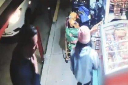 Baptiste Lormand se detuvo en una tienda de abarrotes (Foto: Captura de pantalla)
